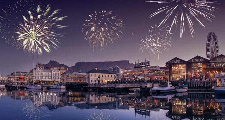 Cape Town NYE at the V&A Waterfront.