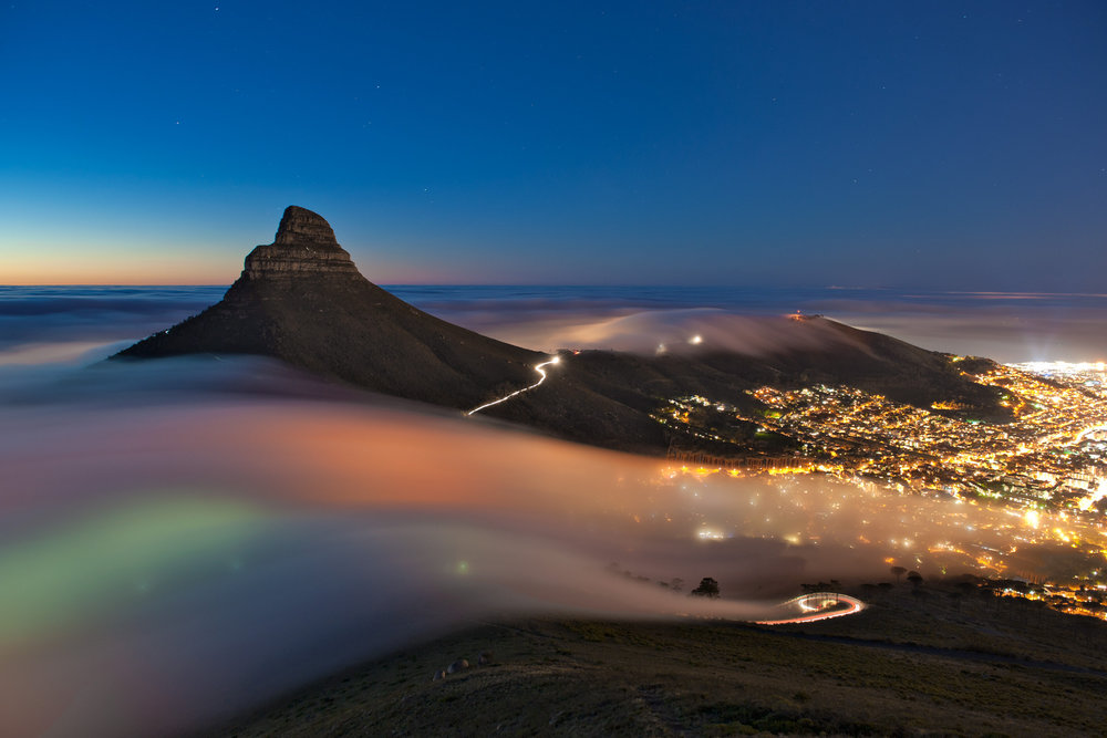 Lions Head at night.