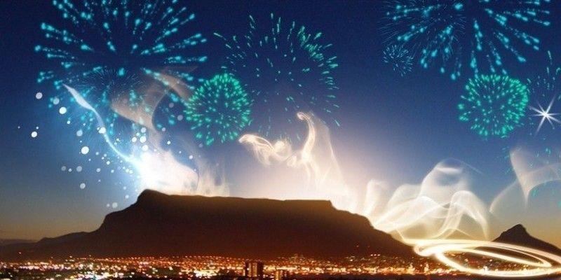 Table Mountain silhouette.