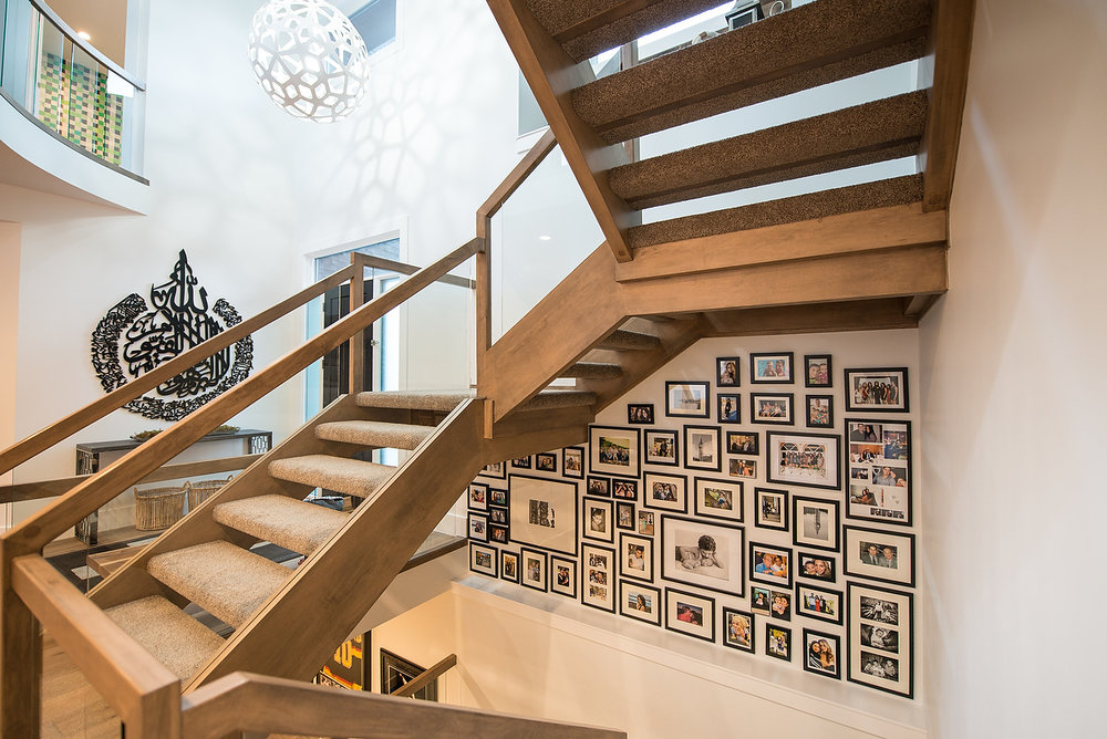 Jehan shows that wallpaper and wood are not the only ways to create a feature wall.