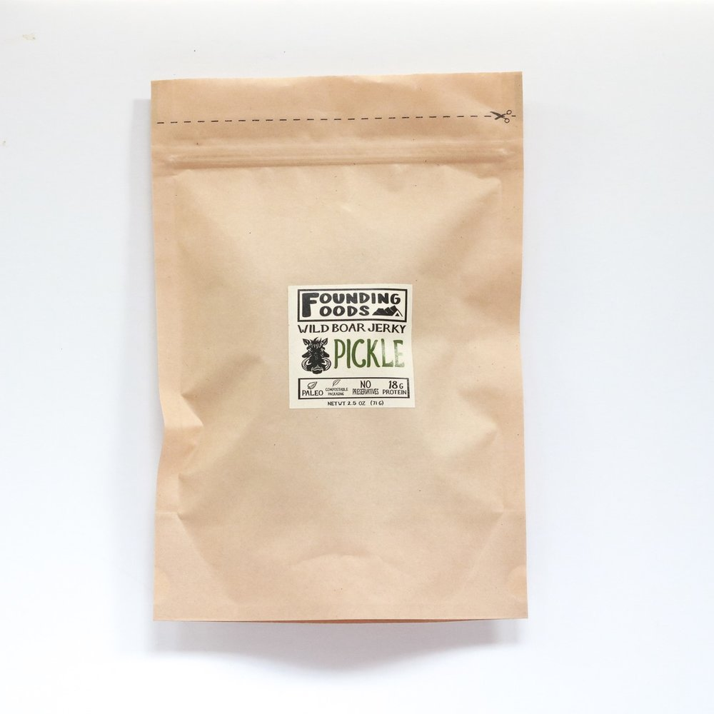 Founding Foods Pickle Wild Boar Jerky