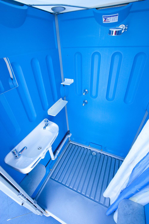 Inside the Portable Shower