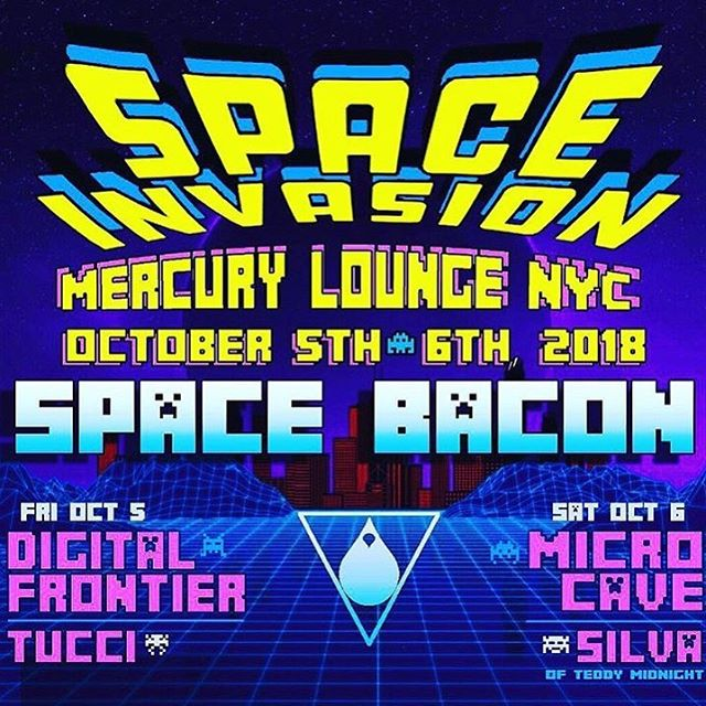 Tonight!!! Come on down to @themercurylounge for an incredible night of music with our friends @spacebacon and @tuccibk #friday #nyc #dff #baconater #lit