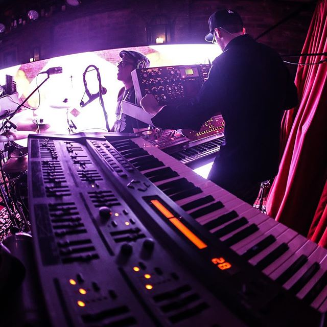 🚀🛸👽✌️ #digifrontmusic #jamband #music #phycadelic #psychedelicrock #psychedelicmusic #korg #moog #akai #newyork #newyorkcity #vibes #goodvibes #electronica #electronicmusic #glitch #visuals #eurorack #glitchart
