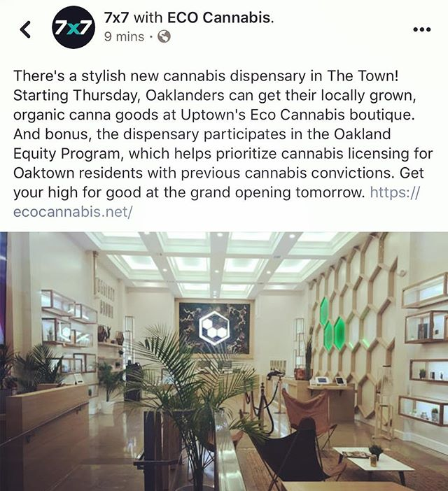 A major thank you to @7x7bayarea for the lovely post!!! 🙏🏽💚🌱 Oakland, we are super ready to meet y'all - ONE MORE DAY until our GRAND OPENING!!! Stop by our retail space in the morning for our ribbon cutting and festivities starting at 10am. 2435 Telegraph Avenue, Oakland, CA 94612 🎊