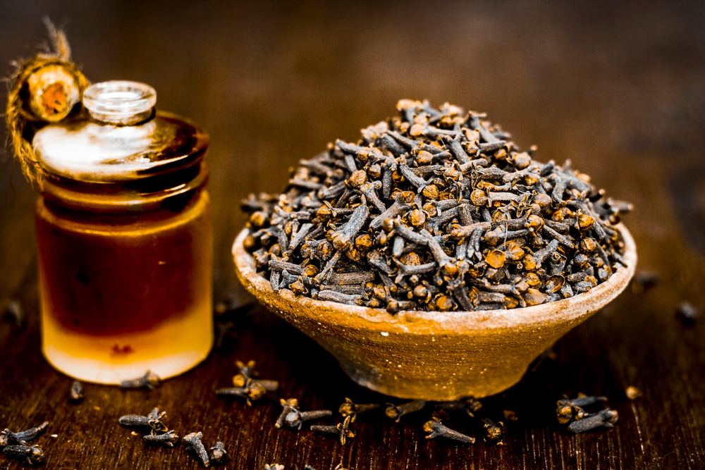 Caryophyllene- cloves in a bowl