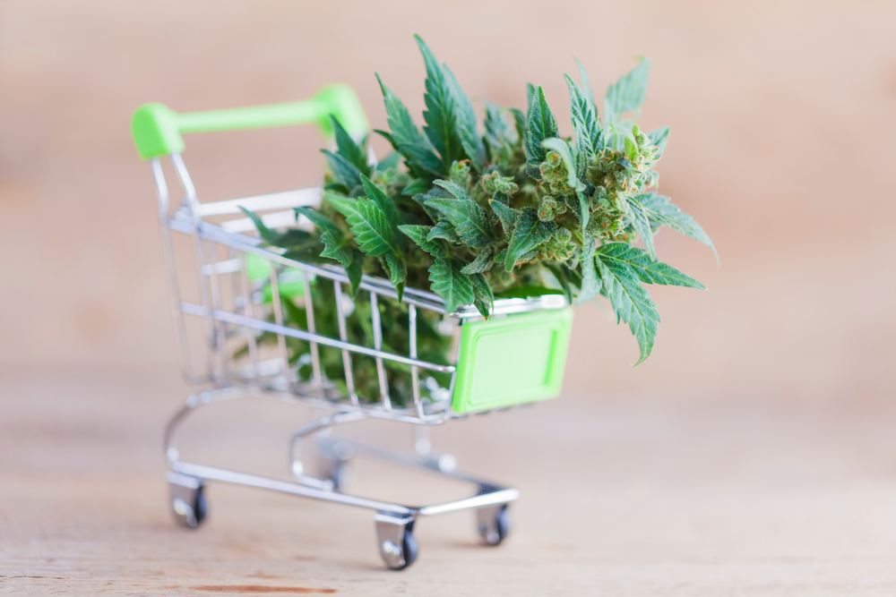 California Cannabis Laws cannabis in shopping cart