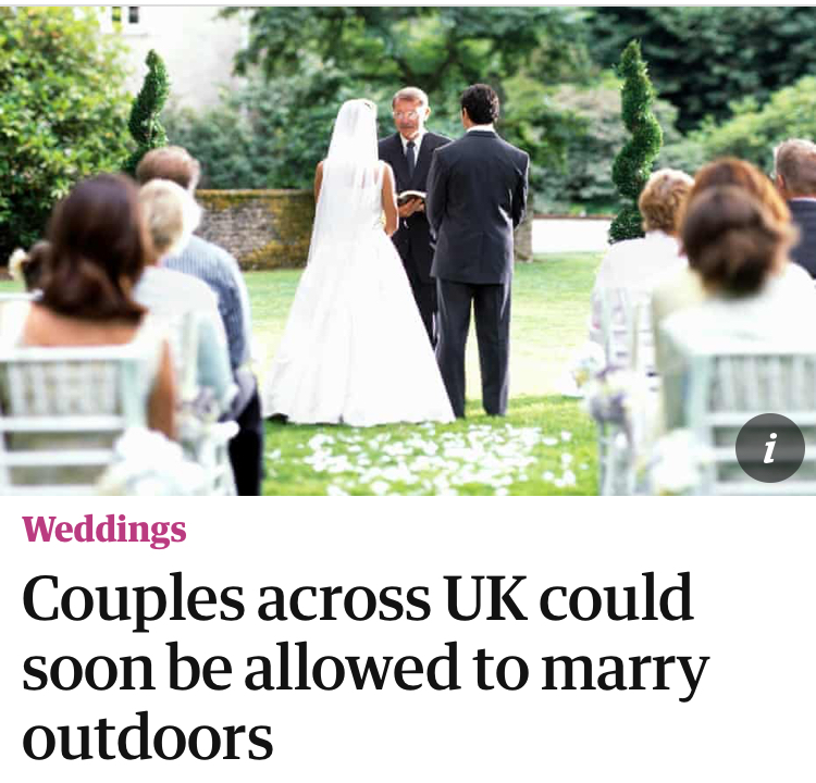 It goes without saying that we whole heartedly support this idea! We'd love to see couples exchanging their vows under our canvas...