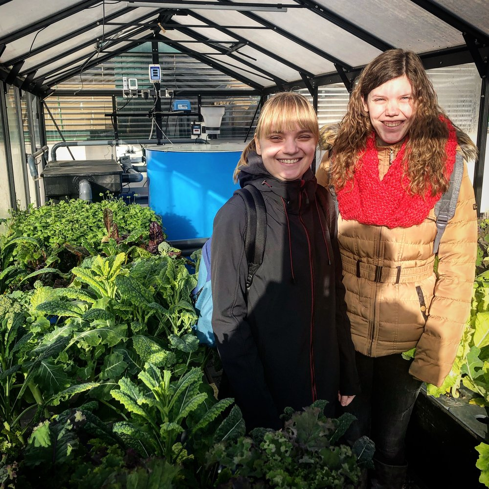 Marjolein and Aniek getting first insight in our citybotanicals greenhouse