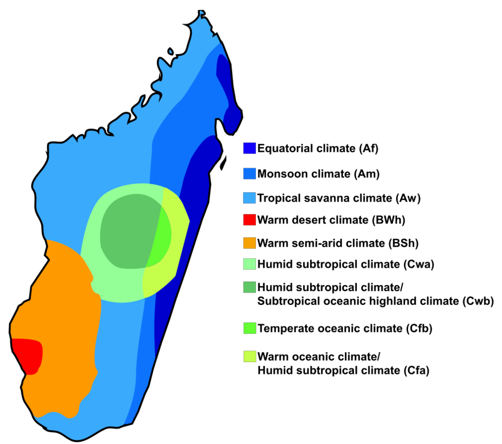 Climate Map of Madagascar