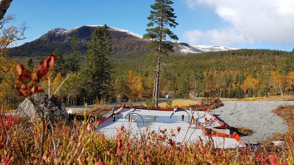 Utsikt fra tomt 37, mot Sørbølfjell