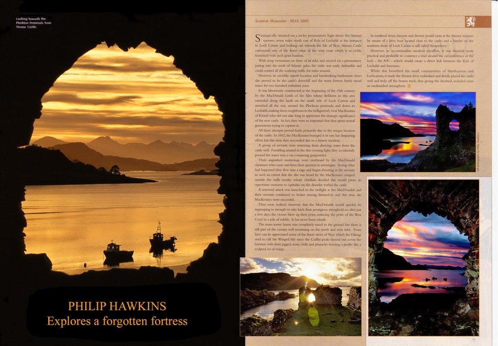 Highland landscape magazine feature