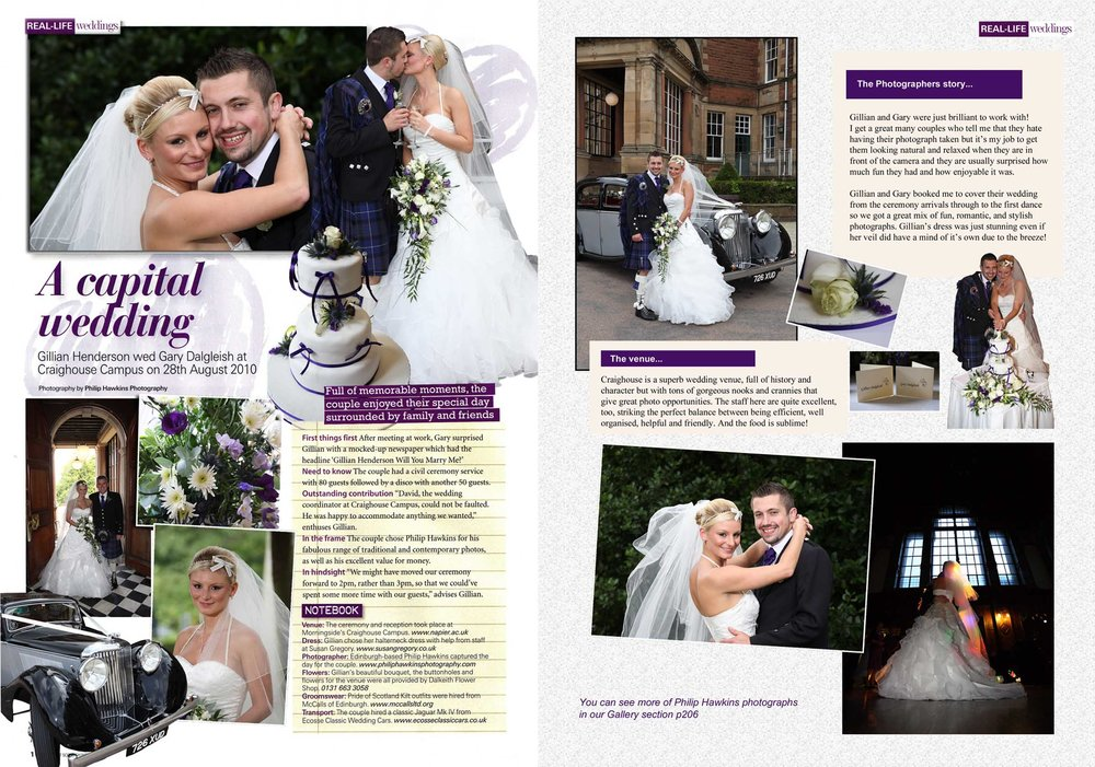 Real Life Wedding magazine feature