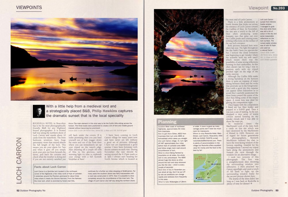 Photography technique series magazine article