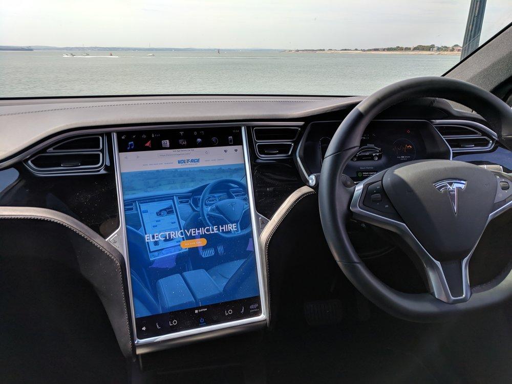 Tesla Interior - Touchscreen