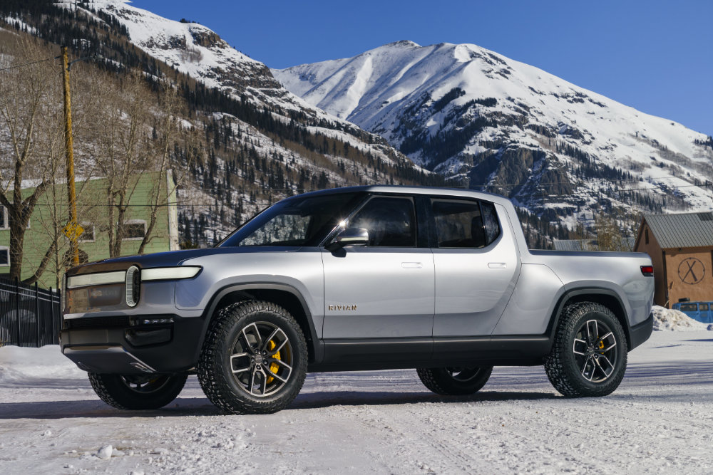 The Rivian R1T.