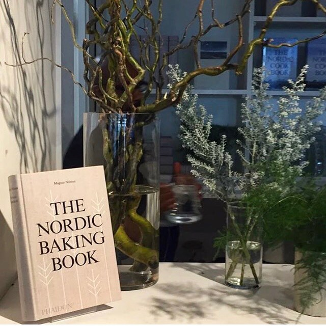 Great to be involved in the launch of the Nordic Baking Book yesterday with @phaidonsnaps thanks to @leilawatts for the beautiful foliage and to @fiona_c_smith for the picture