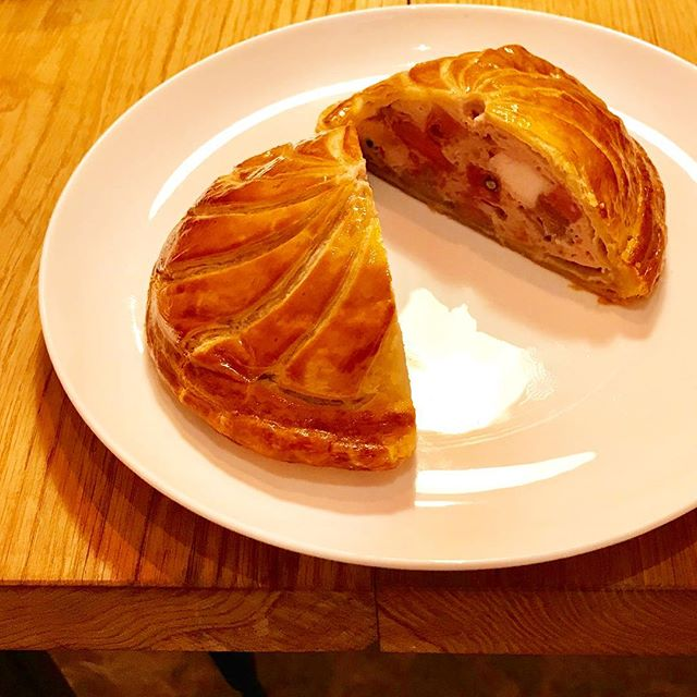 Duck and pistachio pithivier recipe testing going on today