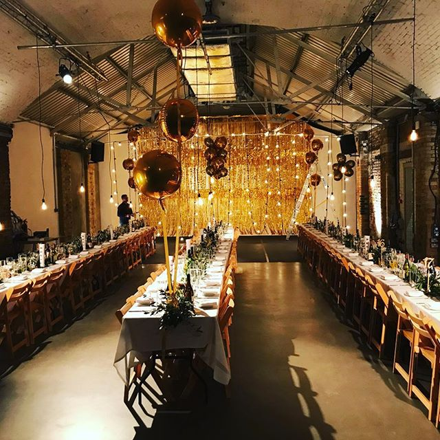 @shoreditchstudios belated Christmas party. Beautiful event production by Dan.