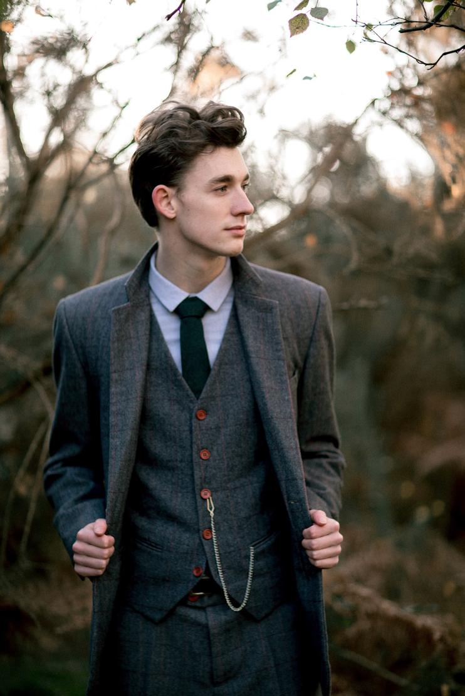 vintage suit grey waistcoat