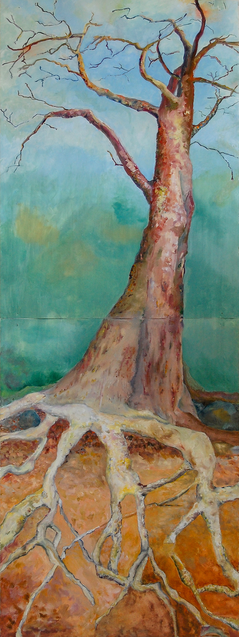 Tallest Tree  oil on paper 72 x 36""