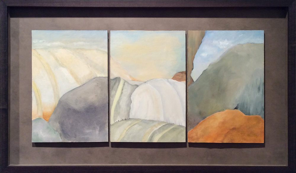 Taking the Long View  (right panels of multi-panel triptych)