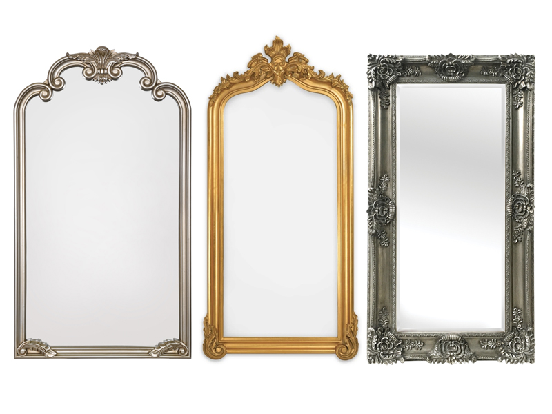 Mirrors featured above, left to right: ( Arabella Leaner Mirror ,  Blenheim Leaner Mirror ,  Mayfair Antique Silver Leaner Mirror )  These mirrors are perfect for the bedroom, their large size opens up the room and can make the room look bigger and more spacious. You can be sure these mirrors will be put to use everyday!