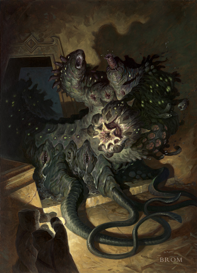 Creature from Lovecraft's At the Mountain of Madness  2013  16x22 inches, oil on board  SOLD