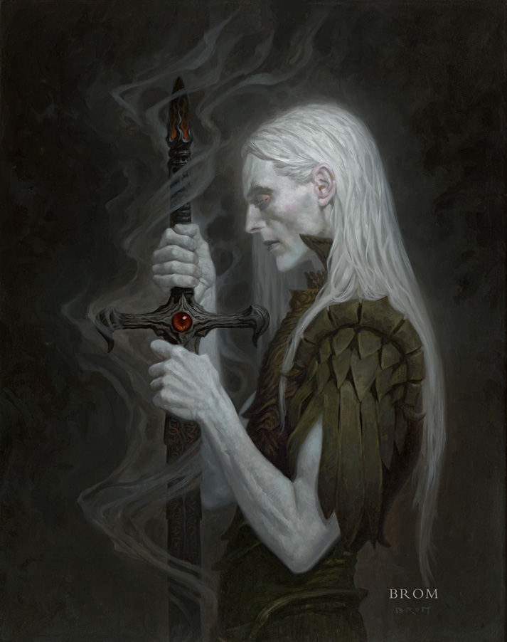 STORMBRINGER (Elric)  2016  15x19, oil on wood panel  SOLD