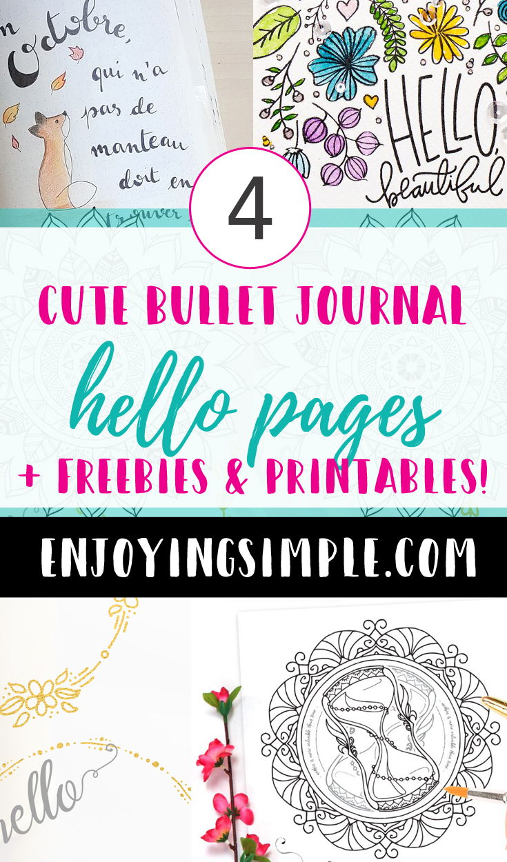 BULLET JOURNAL LAYOUT IDEAS HELLO PAGES 2