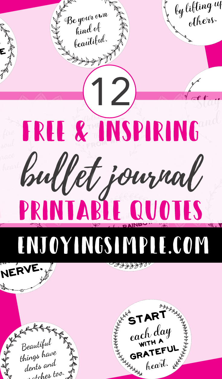 12 Free Printable Planner Quotes Enjoying Simple