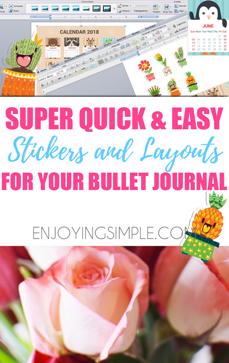 Quick and Easy DIY Planner Stickers and Layouts