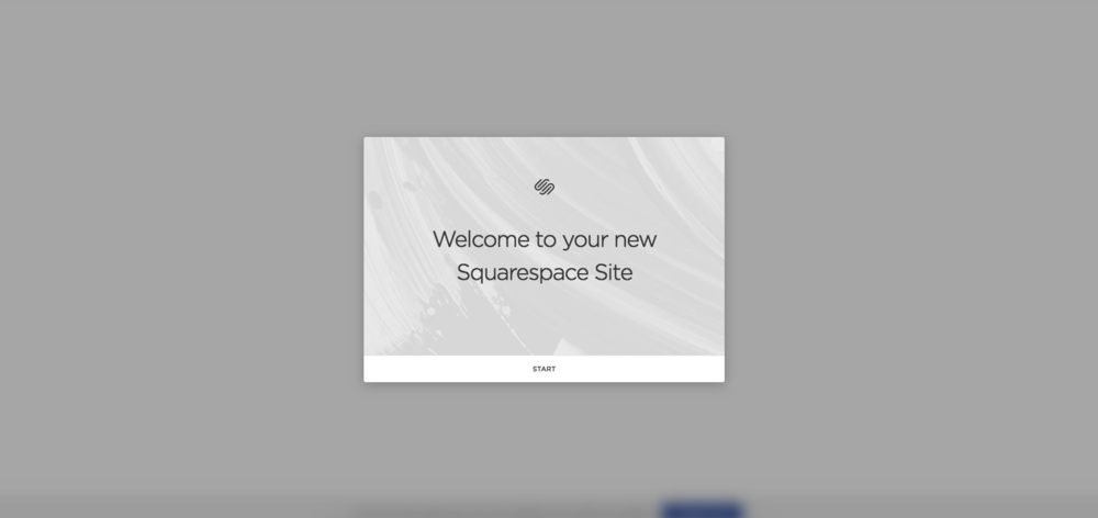 Welcome screen.