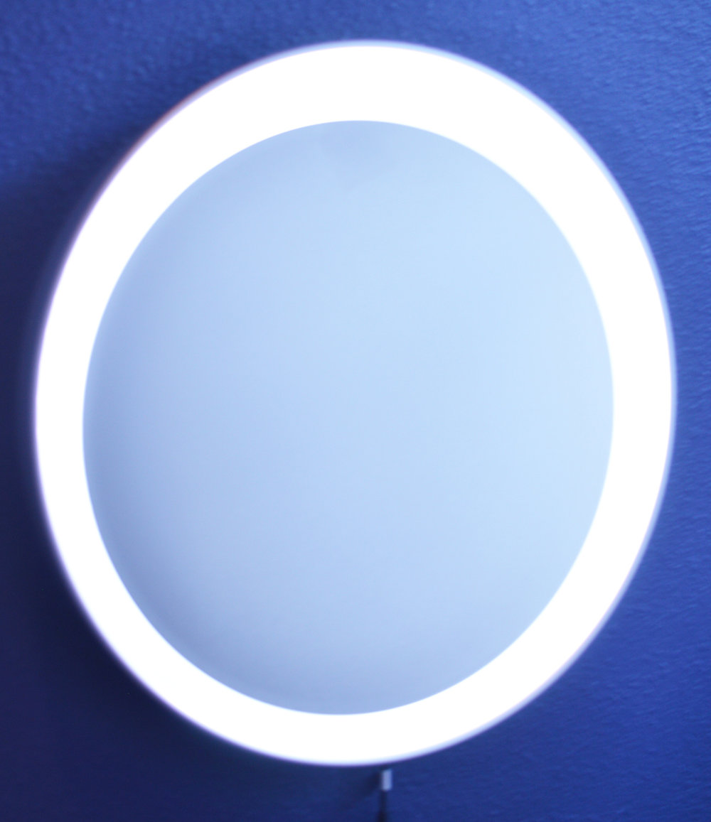 DIY Round Lighted Makeup Mirror - Ikea Stormjorm Dupe