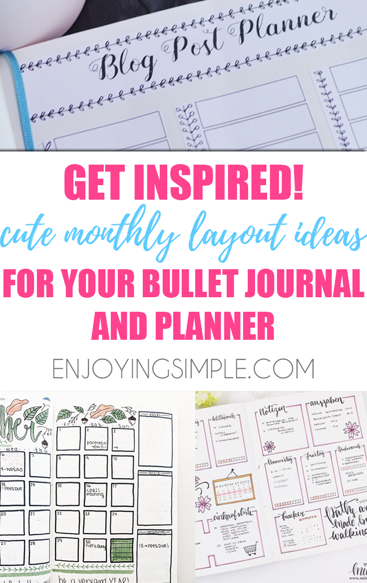 MONTHLY BULLET JOURNAL SPREAD IDEAS