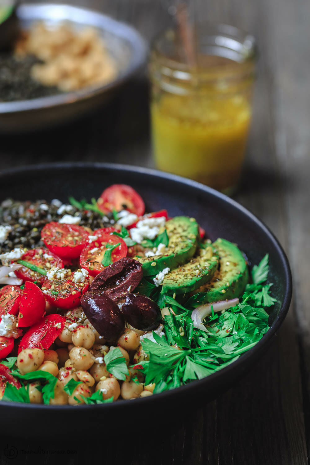 THE MEDITERRANEAN DISH'S GRAIN BOWLS WITH LENTILS AND CHICKPEAS. CLICK FOR FULL POST AND RECIPE.