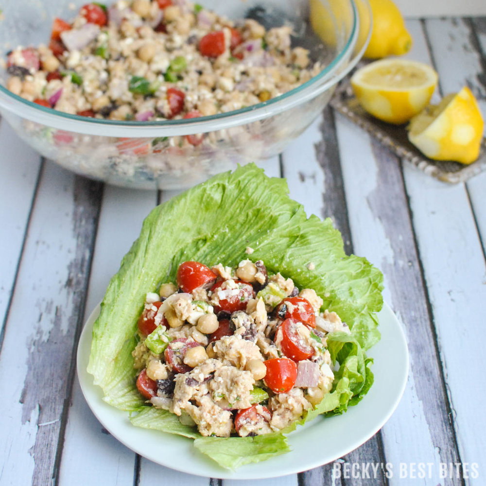 BECKY'S BEST BITES' TUNA LETTUCE WRAPS. CLICK FOR FULL POST AND RECIPE.
