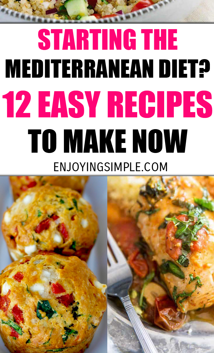 EASY MEDITERRANEAN DIET FRIENDLY RECIPES