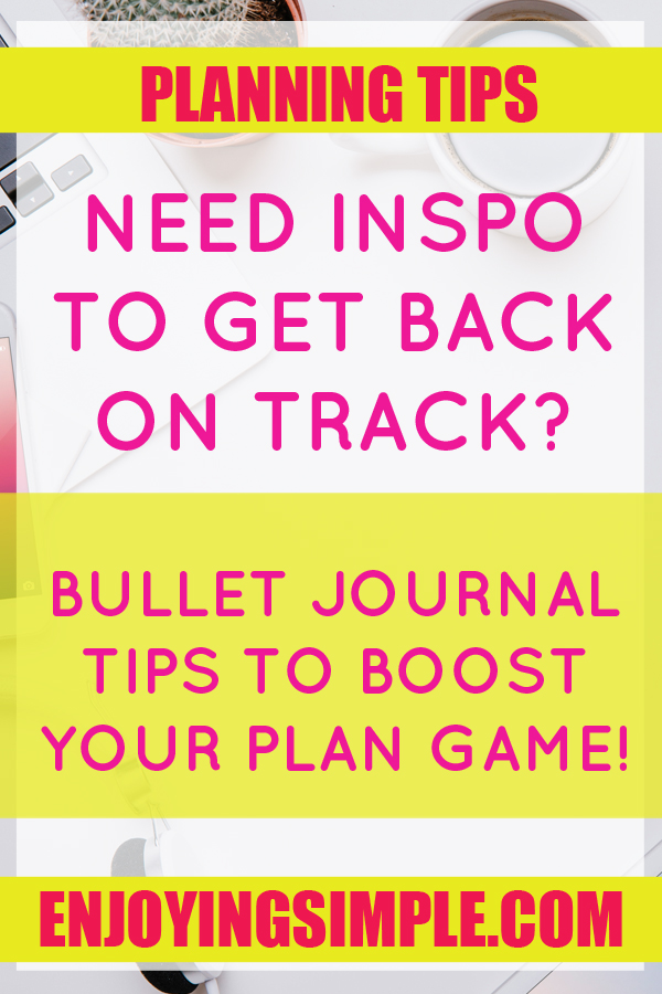 BULLET JOURNAL IDEAS FOR PLANNING