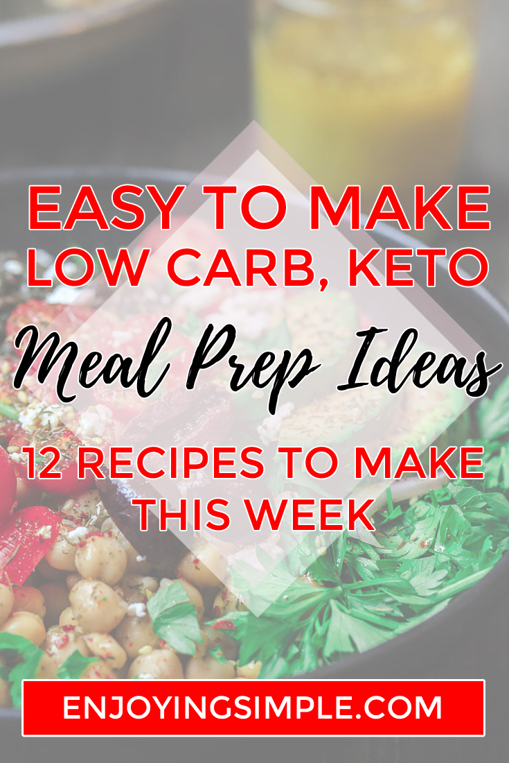 EASY LOW CARB KETO MEAL PREP IDEAS