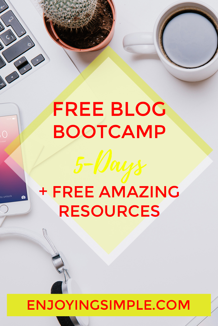 FREE BLOG BOOTCAMP TO BOOST BLOG