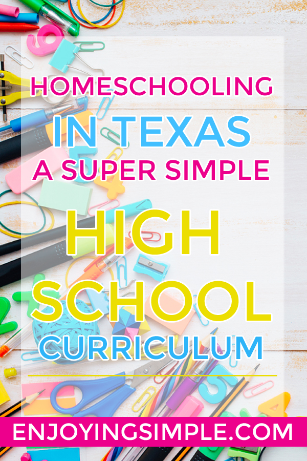 HOMESCHOOL HIGH SCHOOL TEXAS