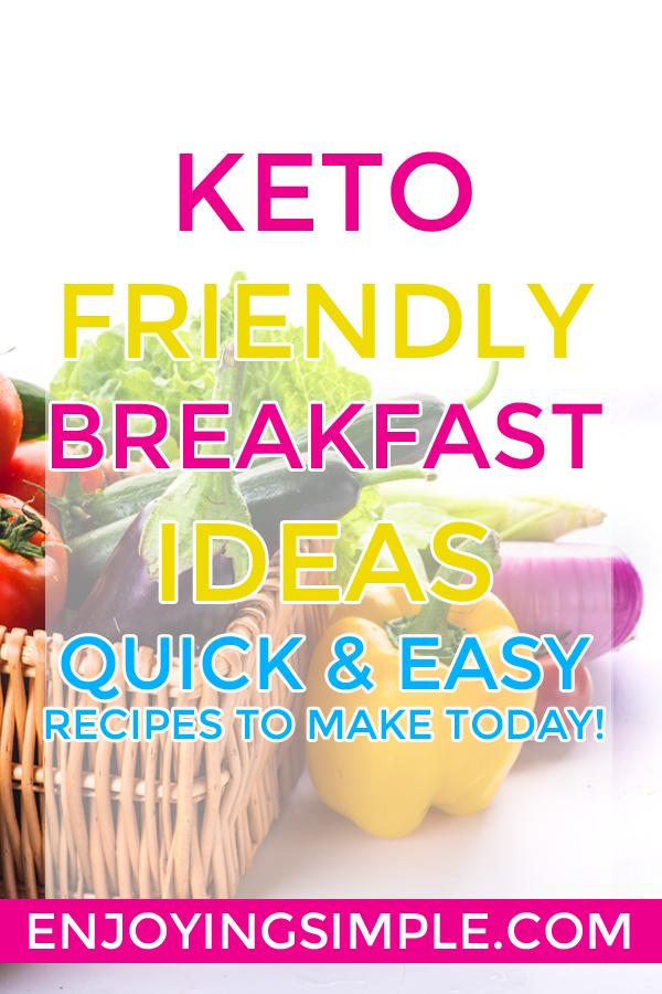 12 LOW CARB KETO BREAKFAST IDEAS