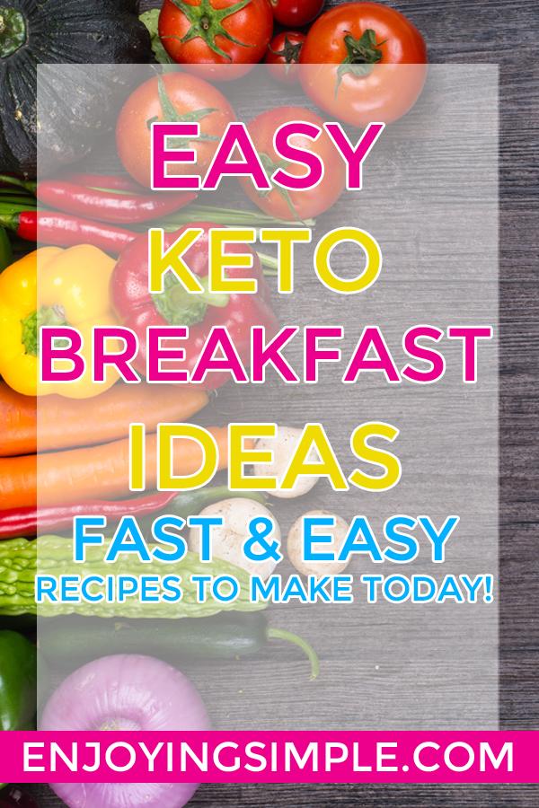EASY KETO LOW CARB BREAKFAST RECIPES