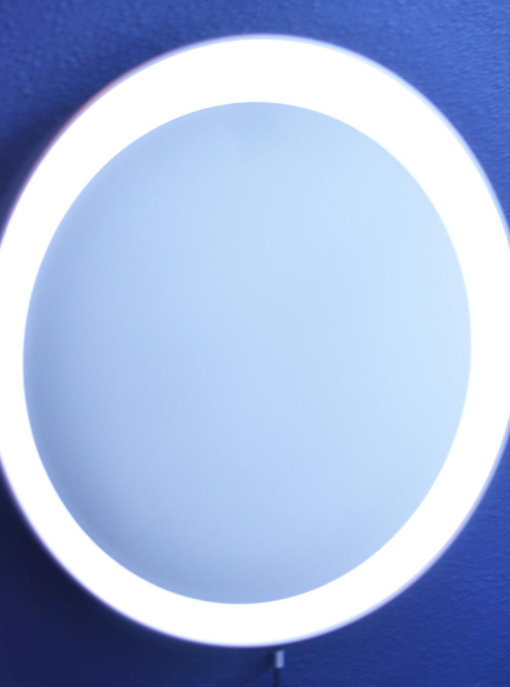 Diy Round Lighted Makeup Mirror Ikea Stormjorm Dupe Enjoying Simple
