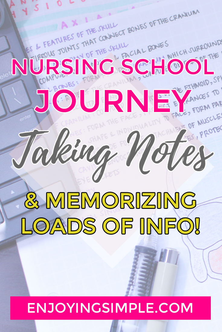 Nursing School Journey- Taking Notes and Memorizing Information