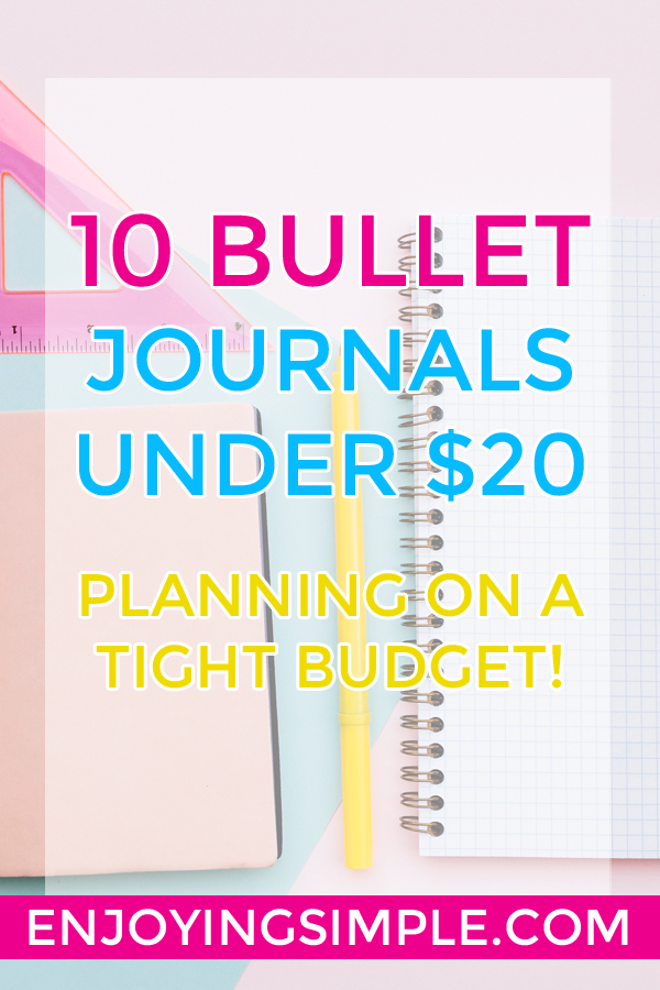 10 Bullet Journal Notebooks Under $20