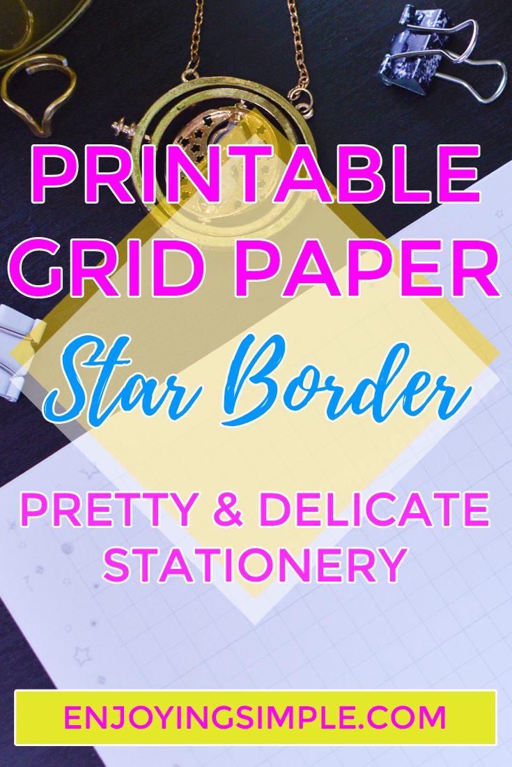 printable grid paper with gray star border enjoying simple