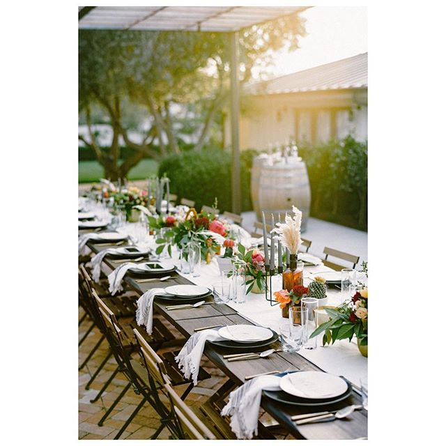 Yummy California light mixed with the perfect design elements from @avenuetwelverentals @gycrentals_ @aurelia.flora & @blushfinelinens. Designed by @samanthajosetteevents  Collaboration @nearest.dearest.slo Photographer @loveridgephotography Videography @steelheadcinema Planner & Designer @samanthajosetteevents Florist @aurelia.flora Furniture Rentals @avenuetwelverentals Tabletop Rentals @gycrentals_ Linens @blushfinelinens  Caterer @floraandfaunafinefood Bar @copperandcrystal Bakery @pardonmyfrenchslo Venue & Wine @biddle_ranch_vineyard Live Music @comealiveentertainment Dj @djsparrowentertainment Stationary @feteteandquill Hair and Makeup @rhyantownsend @houseoftherozetree Dress @shopthemeadow Suit @express Bowtie @captainjoshua Jewelry & Accessories @amour_jewelry_accessories Models @jen_rodriguez @lostboarder