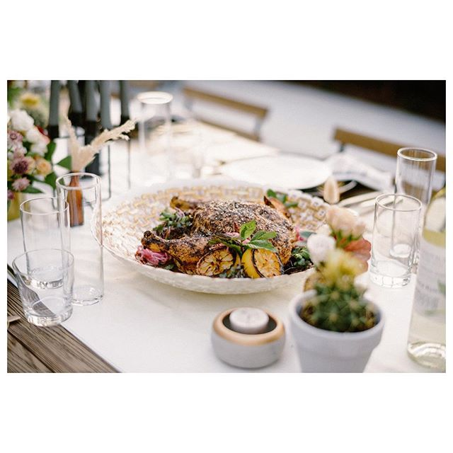 We hope you're sharing the weekend with loved ones over some good food. This delicious dish is by one of our amazing caterers @floraandfaunafinefood.